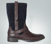 Damen Schuhe Stiefel aus Leder ,braun