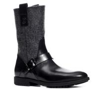 Damen Schuhe Stiefelette 'Arosa' Leder-Filz -grau