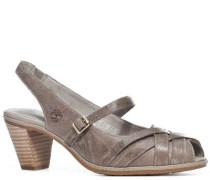 Damen Schuhe Sandalette Nappaleder grey