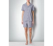 Damen Nachtwäsche Pyjama mit Karo-Dessin