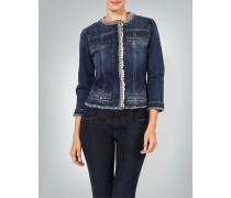 Damen Jeansjacke mit Schmucksteinen