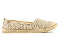Schuhe Espadrilles mit einem schimmernden Effekt