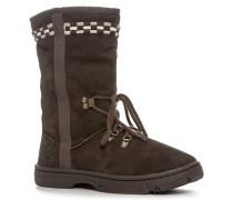 Damen Schuhe Schnee-Boots, Lederimitat-Textil, bunt kariert