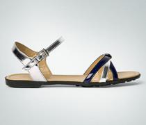 Damen Schuhe Sandalen im Metallic-Look