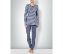 Damen Nachtwäsche Pyjama aus Baumwoll-Jersey