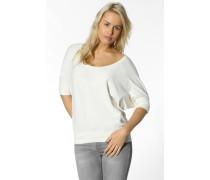 Damen T-Shirt Viskose-Baumwolle creme