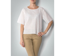 Damen Shirt aus transparenter Blütenspitze