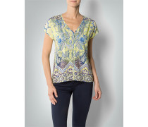 Damen Shirt-Bluse mit Paisley-Muster ,gelb