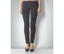 Damen Jeans in Velours-Optik
