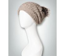 Damen Mütze mit Silberfuchs-Bommel