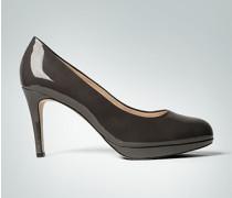 Damen Schuhe Plateau-Pumps in Lackoptik