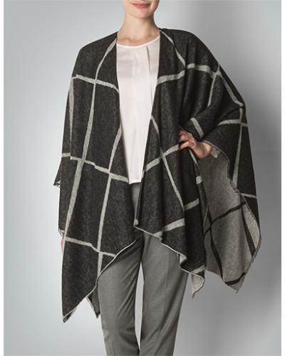 Pullover Poncho in softer Wolle
