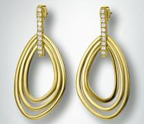 Damen Schmuck Ohrringe mit kleinen Glassteinen