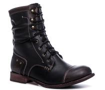 Damen Schuhe Stiefelette, Nappaleder, dunkel