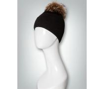 Damen Mütze mit Echtpelz-Pompon