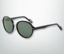 Damen Brille Sonnenbrille mit Metallsteg in Silber