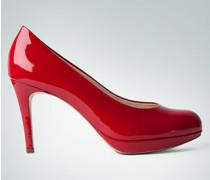 Damen Schuhe Plateau-Pumps in Lack-Optik