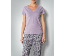 Damen Pyjama-Shirt mit großem V-Ausschnitt