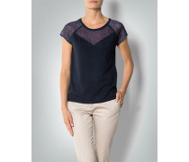 Damen Kurzarm-Pullover mit Lurex-Effekt