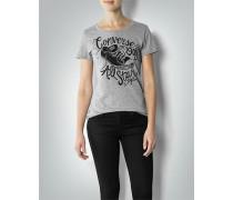 Damen T-Shirt mit Label-Frontprint
