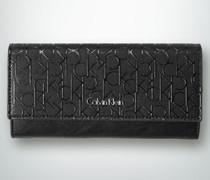 Damen Geldbörse mit Logo-Allover-Print
