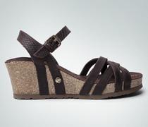 Damen Schuhe Keilsandalen aus Nappaleder