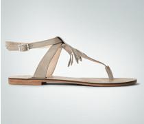 Damen Schuhe Zehensandale mit Fransen und Nieten