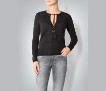 Damen Pullover mit Spitzenbesatz