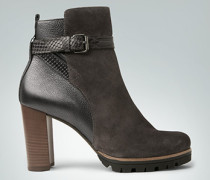 Damen Schuhe Stiefelette mit Ledermix