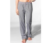 Damen Pyjama-Hose Baumwolle -weiß