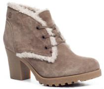 Damen Schuhe Ankle-Boots Veloursleder timber wolf