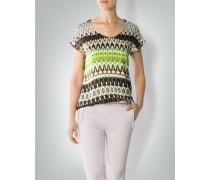 Damen Shirt-Bluse mit Kaleidoskop-Print