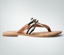 Damen Schuhe Zehensandale mit modischem Fellriemen