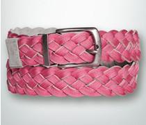 Damen Gürtel Wendeflechtgürtel mit Strukturband