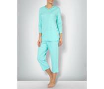 Damen Nachtwäsche Pyjama im Punkte-Look