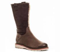 Damen Schuhe Stiefel Nubuk-Velours dunkel