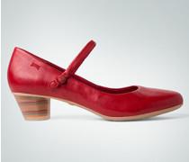 Damen Schuhe Pumps mit feinem Riehmen und Streifenabsatz