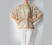 Damen Pullover Poncho im Orient-Look