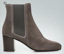 Schuhe Chelsea Boots aus Glatt- und Velourslede
