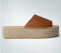 Damen Schuhe Plateau-Pantolette im Espadrilles-Style
