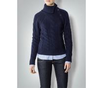 Damen Pullover mit Zopfmuster