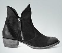 Damen Schuhe Stiefelette mit asymmetrischem Schaftrand schwarz