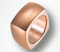 Damen Schmuck Ring in eckiger Form