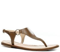 Damen Schuhe Zehensandale Leder hell