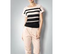 Damen Shirt mit Kontrast-Streifen