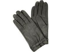 Damen Handschuhe, Nappaleder, asphalt
