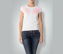 Damen Kurzarm-Pullover mit Stickerei