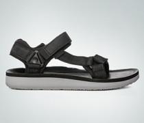 Damen Schuhe Sandale mit Kontrastsohle