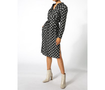 Hemdblusenkleid mit Allover-Muster