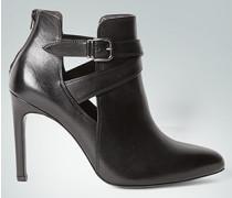 Damen Schuhe Stiefeletten mit modischem Riemen schwarz